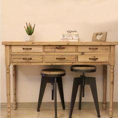 The village of retro furniture,Vintage metal bar chair,anti rust treatment,Bar furniture sets,100% wood bar stool