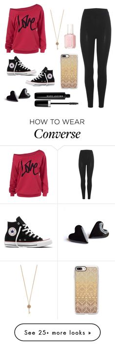 """""""Hopeful for Tomorrow"""" by jjwahlberg on Polyvore featuring Aéropostale, Converse, adidas Originals, Casetify and Marc Jacobs"""