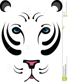 stylized-white-tiger-no-outline-318499.jpg (1073×1300)