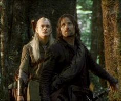 Legolas and Aragorn in Lothlorien Legolas And Aragorn, Thranduil, Fellowship Of The Ring, Lord Of The Rings, Balrog Of Morgoth, Elf King, Jackson, I Love Cinema, Into The West