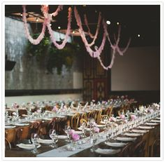 i want long tables for my wedding reception! Reception Decorations, Event Decor, Flower Decorations, Table Decorations, Event Design, Party Planning, Wedding Details, Real Weddings, Rustic Wedding