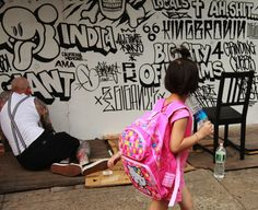 Streetart: Mike Giant Wall In Chinatown / New York (14 Pictures) > Design und so, Film-/ Fotokunst, Illustrationen, Paintings, Streetstyle, urban art > chinatown, graffiti, manhattan, mural, New York, streetart, wall