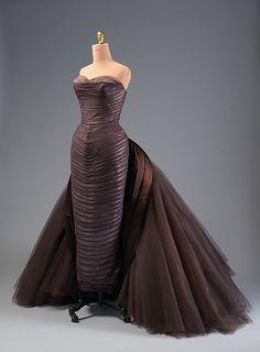 """Butterfly"" Designer: Charles James (American, born Great Britain, 1906–1978) Date: ca. 1955 Culture: American Medium: silk, synthetic, metal"