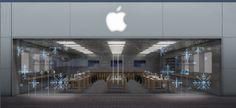 Le vetrine degli #AppleStore saranno allestite con fiocchi di neve fatti con luci a #Led: lo spettacolo è assicurato.