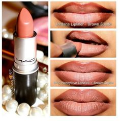 MAC lips ♡ and I have honey love lipstick right now! ^_^