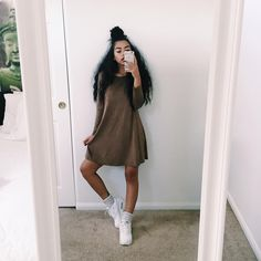 """That mocha. Dress: @_goldsoul_"""
