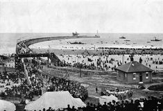 The opening of Roker Pier and Lighthouse, 23 September 1903 Sunderland England, Dog Steps, Victorian Buildings, North East England, Winter Garden, Great Britain, East Coast, Old Photos, Paris Skyline