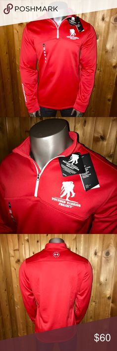 NWT! Under Armour Wounded Warrior Zip Sweater Brand New With Tags!  Size: U.S. Men's 2XL Color: Red/White Quarter Zip Sweater Under Armour Wounded Warrior Project Cold Gear Series Loose Fit 100% Polyester Made in Jordan  Sweater comes from a smoke and pet free home  Thanks for looking!  Tags: #nike #adidas #reebok #fila #thenorthface #polo #patagonia #puma #supreme #gucci #hilfiger #bape #thrasher #michaelkors #calvinklein #ckjeans #underarmour #vineyardvines #champion Under Armour Sweaters…