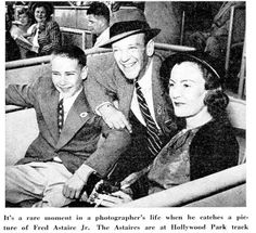 Fred Astaire with his wife, Phyllis Potter and son, Fred Astaire Jr.