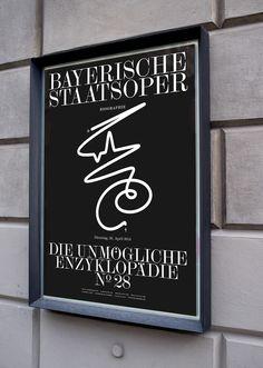 Poster for Bavarian State Opera on Behance