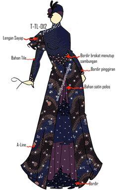 Wedding Dress Design from Batik Tulis Madura Indonesia