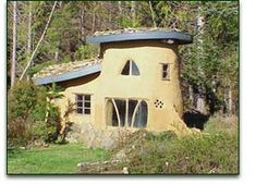 """A """"cob"""" cottage made from mud.  We do have plenty of that around here."""