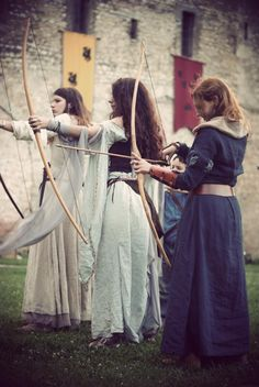 Every woman residing within the gates of the castle of Aisling were trained for battle.