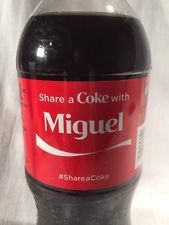 2015 Share a COKE with MIGUEL Collectible 20 Oz Bottle Coca-Cola Name