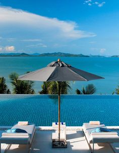 Villa Frente al Mar en Cabo Yamu, Phuket, Thailand Dream Vacations, Vacation Spots, Vacation Resorts, Concrete Deck, Outdoor Living Rooms, Outdoor Spaces, Wanderlust, Modern Mansion, Waterfront Homes