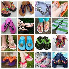 Creative ways to redo flip flops - Bored Blog Almighty: Put your best feet forward