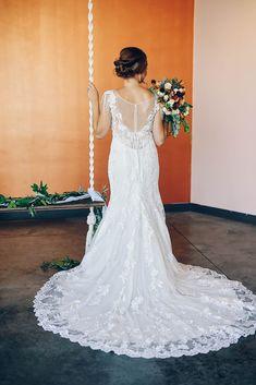 Ella Rosa lace gown at Bitsy Bridal Photo: Hawkeye Photography and Life Looks Photography Wedding Dress Shopping, Hawkeye, Designer Wedding Dresses, Bridal Gowns, Bridesmaid, Lace, Photography, Fashion, Bride Dresses