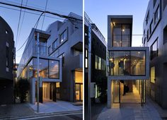 * Residential Architecture: House in Takadanobaba by Florian Busch Architects Japan Architecture, Residential Architecture, Architecture Details, Interior Architecture, Interior Design Companies, Modern Interior Design, House Tokyo, Narrow House, Concrete Houses