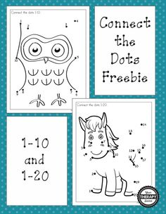 Dot to dot freebies for numbers 1-10 and 1-20. These connect the dot puzzles encourage visual motor, figure ground and visual closure skills.
