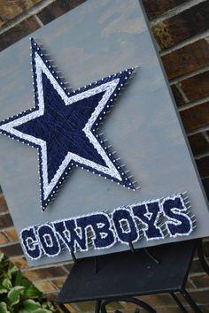 Dallas Cowboys String Art Large by BizzyStrings on Etsy Dallas Cowboys  Crafts 3def207a9