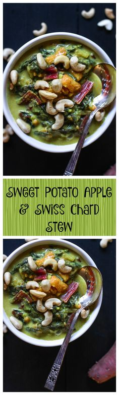 Sweet Potato Apple & Swiss Chard Stew. Hello Autumn! This is the most delicious and very easy stew/soup you can make... and this recipe is so healing!