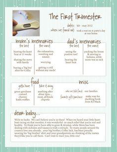 Simple pregnancy journal. Summary of each trimester. #pregnancyjournal #healthypregnancy #samplepregnancyjournal