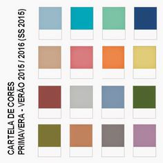 Ola Ops Design: Cartela de Cores Pantone - Primavera Verão 2015/2016 (SS 2015)