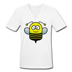 Bee  Unisex V-Neck T-Shirt by American Apparel  Unisex V-neck jersey t-shirt, 100% cotton, Brand: American Apparel   SPECIAL NOTE: It is recommended that men order a size up and women a size down and/or pay special attention to the sizing chart.