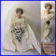 Retired Royal Wedding Princess Diana Bride Collectors Doll Danbury