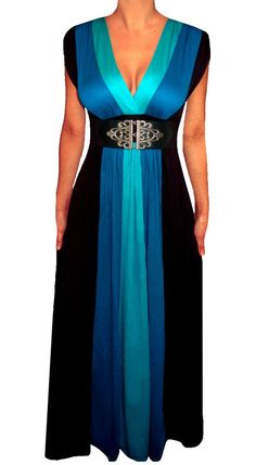 Funfash Plus Size Clothing Black Color Block Long Maxi Women's Plus Size Dress #PlusSize #Fashion #Style #Curvy #Summer #BBW #Women #Beautiful #Dress