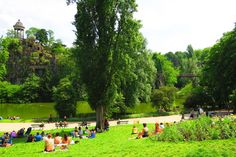 Parc des Buttes-Chaumont in eastern Paris - sitting on the site of a former quarry