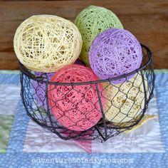 String Easter Eggs   AllFreeHolidayCrafts.com