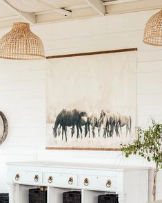 Grazing Horses Vintage Inspired Tapestry by Aimee Weaver Designs Coastal Decor, Rustic Decor, Farmhouse Decor, Barn Wood Signs, Reclaimed Barn Wood, Wood Artwork, Making Signs On Wood, Bedroom Signs, Dining Room Inspiration