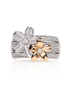 Natures beauty inspired the design of this Fine jewellery two tone daisy ring. Weird Jewelry, Jewelry Rings, Jewelery, Jewelry Accessories, Fine Jewelry, Jenna Clifford, 2015 Wedding Trends, Daisy Ring, Diamond Jewelry