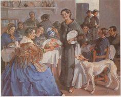 """""""Café de poble. Sant Antoni"""", any 1941 - Autor: Josep Tarrés Palau (1892-1945)"""