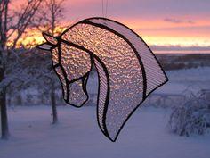 Horse Suncatcher by StainedGlassByBev on Etsy