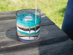 DIY: Sand Art Candles | HGTV Summer Camp >> http://www.hgtv.com/design/make-and-celebrate/handmade/easy-diy-sand-art-candles?soc=pinterest