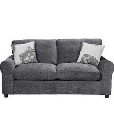 Buy Argos Home Tessa 2 Seater Fabric Sofa Bed - Charcoal at Argos.