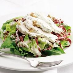 Spring Chicken & Blue Cheese Salad- Made this for dinner last night - YUM!  Easy, and everyone loved it!