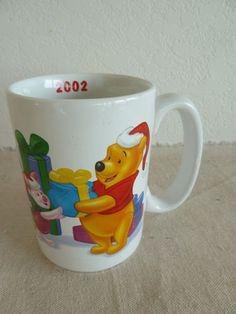 Disney Winnie The Pooh Large Coffee Mug 2002 Pooh Piglet Eeyore Tigger