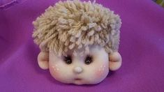 naughty hairdress from a yarn for a doll. Doll Videos, Doll Wigs, Sewing Dolls, Doll Maker, Waldorf Dolls, Boy Doll, Felt Toys, Soft Dolls, Soft Sculpture