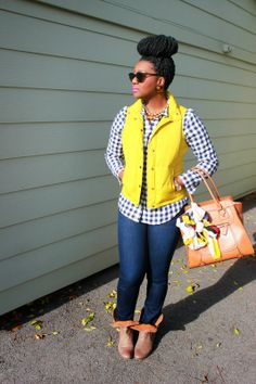 Chioma's Evolution of Style: Mustard, Gingham, + A $225 Holiday Giftcard Giveaway!