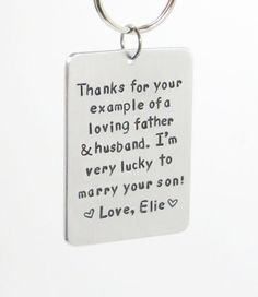 Father of the groom gift  Personalized Bride's by belvidesigns