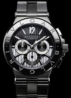 Bvlgari Diagono Calibro 303 Chronograph watch in steel.