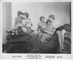 AT WAR WITH THE ARMY orig posed still photo JERRY LEWIS/DEAN MARTIN/POLLY BERGEN