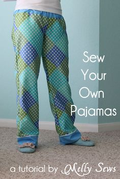 Learn how to sew your own pajama pants! Click for full instructions.