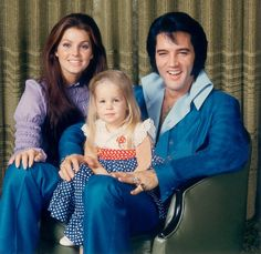 Young Lisa Marie Presley with Elvis Presley and Priscilla Presley