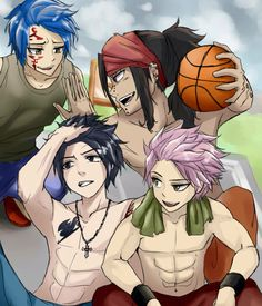 Fairy tail boys basketball game and their woman!!!!!!!!!!!! Part 1