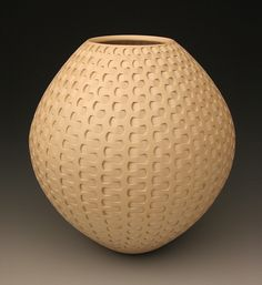 Tan Dovetail Weave by Michael Wisner: Ceramic Vessel available at www.artfulhome.com