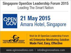 Singapore OpenGov Leadership Forum 2015 21 May 2015 Amara Hotel  Singapore